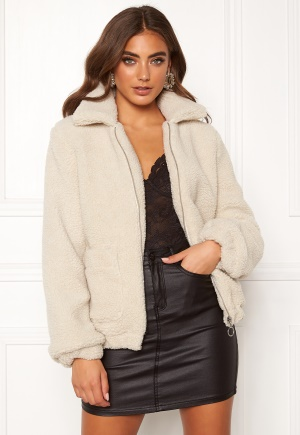 BUBBLEROOM Tove teddy jacket Light beige 42