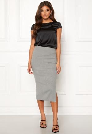 Moa Mattsson X Bubbleroom Midi knitted skirt Grey melange L