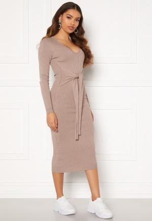 BUBBLEROOM Adelie knitted dress Light brown L