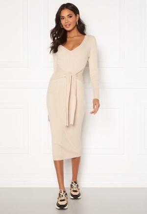 BUBBLEROOM Adelie knitted dress Beige L