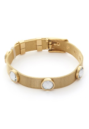 BY JOLIMA Adele Crystal Bracelet Crystal Gold One size
