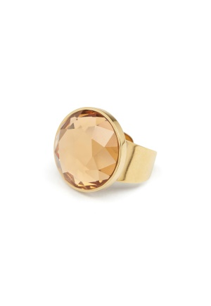 BY JOLIMA Holy Glam Ring Champagne Gold One size