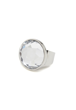 BY JOLIMA Holy Glam Ring Crystal Silver One size