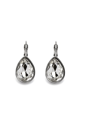 BY JOLIMA Tear Drop Earring Crystal Silver One size thumbnail