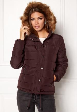 b.young Amanda puffer jacket 80631 Beetroot 34