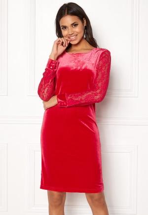 b.young Urbana Dress Crimson Red L