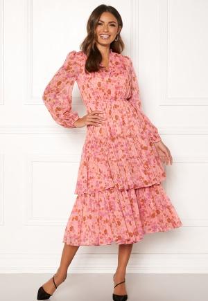 byTiMo Chiffon Layered Dress 876 Pink Garden M