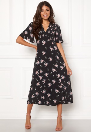 byTiMo Midi Day Dress 855 Small Bouquet M