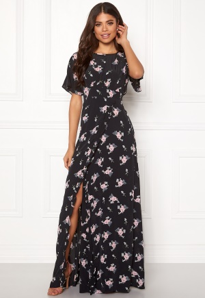 byTiMo Ruffle Wrap Gown 855 Small Bouquet XS
