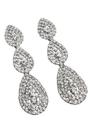 Love Rocks Byzanine Pave Earring Silver Colour One size