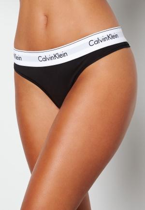 Calvin Klein CK Cotton Thong 001 Black XS