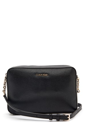 Calvin Klein Jeans Camera Bag Saffiano BAX Ck Black One size
