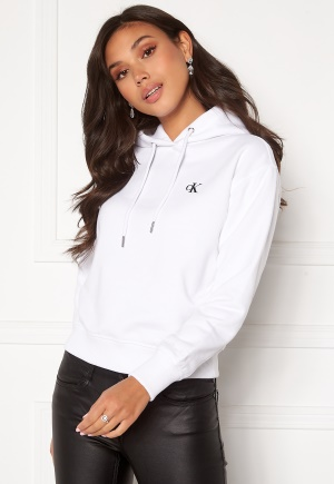 Calvin Klein Jeans CK Embroidery Hoodie Bright White L