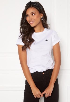 Calvin Klein Jeans CK Embroidery Slim Tee Bright White M