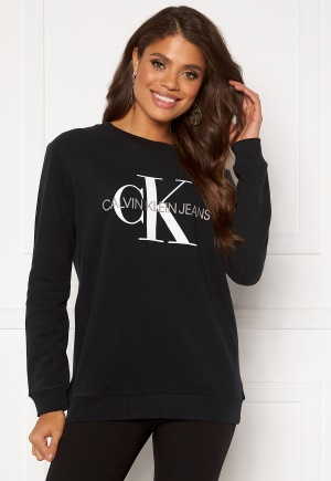 Calvin Klein Jeans Core Monogram Logo Sweatshirt 099 CK Black S