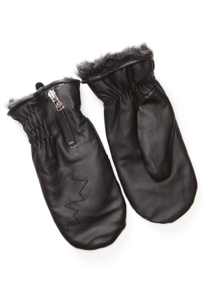 Canada Snow Kläppen Leather Mitts Black One size