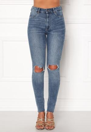 CHEAP MONDAY High Spray Cut Off Jeans Blue W24/25