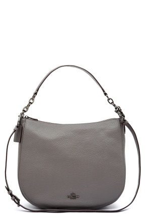 COACH Chelsey Leather Bag DKHGR Heather Grey One size