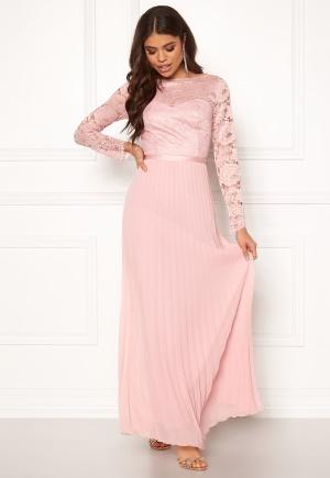 Chi Chi London Annelise Lace Maxi Dress Mink L (UK14)