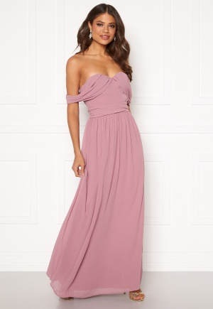 Chi Chi London Albanie Strapless Dress Mink L (UK14)