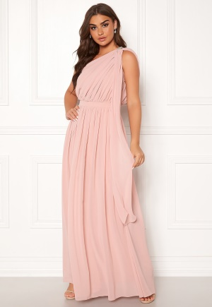 Chi Chi London Petra One Shoulder Dress Mink L (UK14)