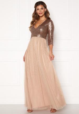 Chiara Forthi Admirante sparkling gown Rose gold 34