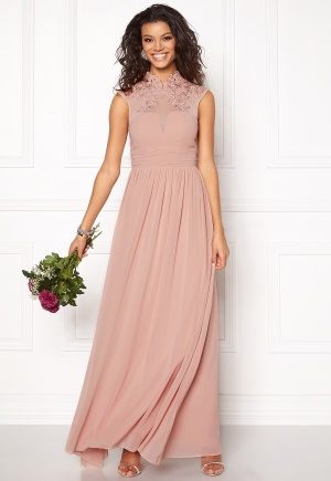 Chiara Forthi Ambra Highneck Dress Sand 34