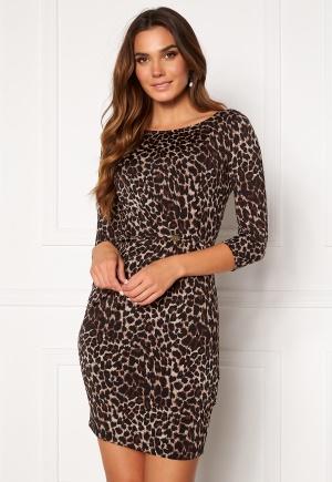 Chiara Forthi Amy 3/4 Sleeve Dress Leopard S