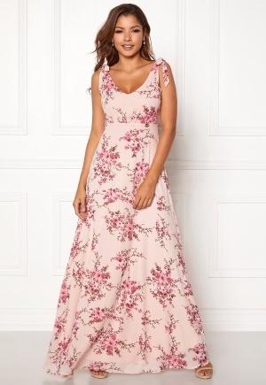 Chiara Forthi Cherie tie dress Light pink / Floral 44
