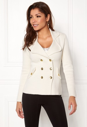 Chiara Forthi Chiara Heavy Knit Blazer Antique white L (EU42)