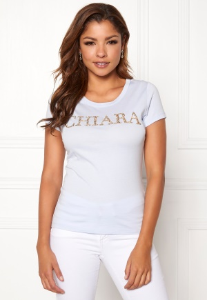 Chiara Forthi Chiara sparkle tee Light blue / Silver / Gold XS