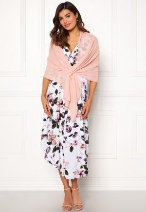 Chiara Forthi Chiffon Shawl Light pink One size