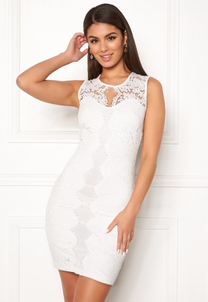 Chiara Forthi Corso scallop lace dress White XL