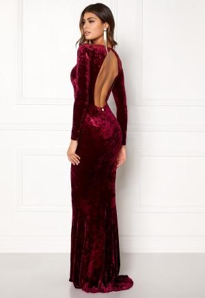 Chiara Forthi Editta Velvet Gown Dark red M (EU38/40)