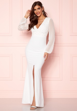 Chiara Forthi Felicienne pearl gown White 40