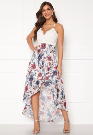 Chiara Forthi Floreale highlow dress Blue / White / Floral 34