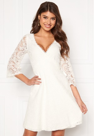 Chiara Forthi Heaven wrap lace dress White 34