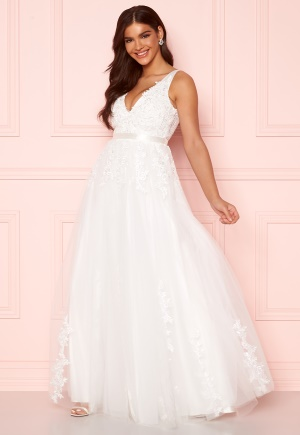 Chiara Forthi Leonore Tulle Gown White 40
