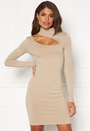 Chiara Forthi Mariam cut out dress Light nougat XL