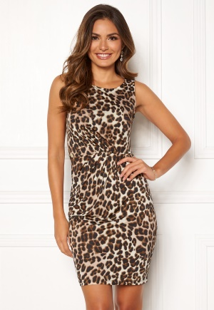 Chiara Forthi Marjorie Sleeveless Dress Leopard XS