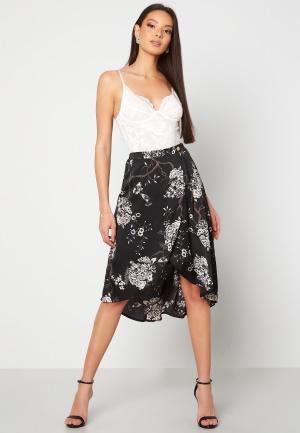 Chiara Forthi Nadia wrap skirt Black / Patterned 42