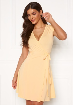 Chiara Forthi Sonnet Mini Wrap Dress s/s Light yellow L