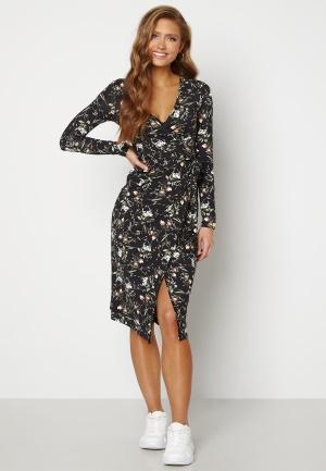 Chiara Forthi Sonnet wrap midi dress Black / Floral S