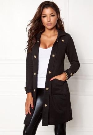 Chiara Forthi Sottovalle Jersey Coat Black L (EU42)