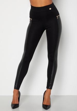 Chiara Forthi Stansie coated leggings Black L