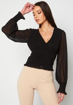 Chiara Forthi Sue ruffle blouse Black 44