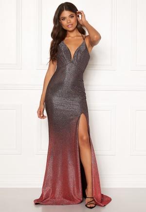 Christian Koehlert Dream Glitter Dress Glitter Grey & Red 32