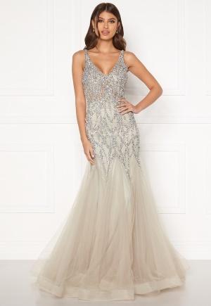 Christian Koehlert Cristal Prom Dress Ghost Grey 38