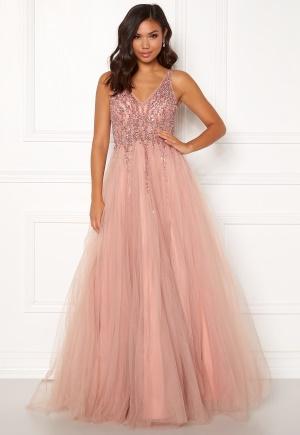 Christian Koehlert Sparkling Tulle Dream Dress Dawn Pink 38