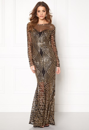 Club L Spiral Sequins Maxi Dress S (UK10)